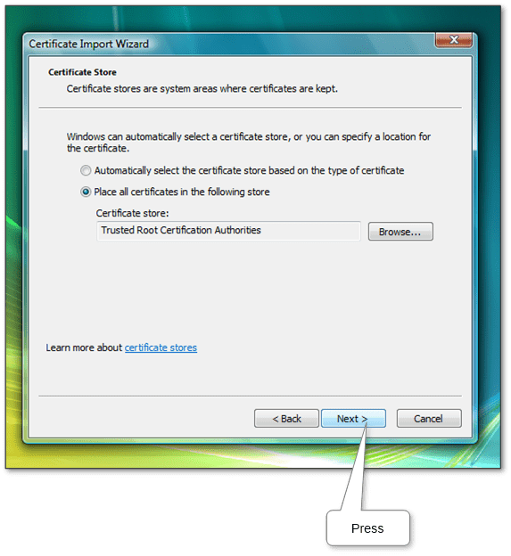 How To Install Or Import A Root Certificate In Windows